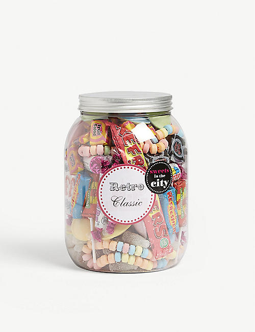 SWEETS IN THE CITY Retro Classics giant jar 825g