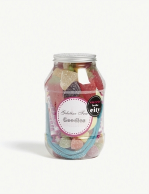 SWEETS IN THE CITY Gelatine free goodies jar 405g