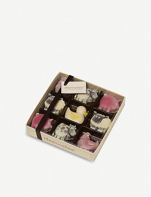 CHOC ON CHOC: Farmyard box of chocolates 180g