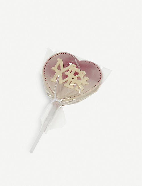 CHOC ON CHOC: Mr & Mrs chocolate lolly 70g