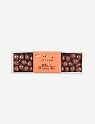 SELAMLIQUE: Cinnamon milk chocolate hazelnuts 200g