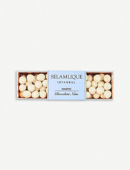 SELAMLIQUE: Mastic white chocolate hazelnuts 200g