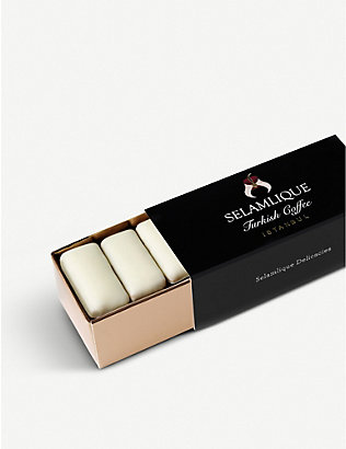 SELAMLIQUE: Mastic Delicacy white chocolate almond croquants 60g