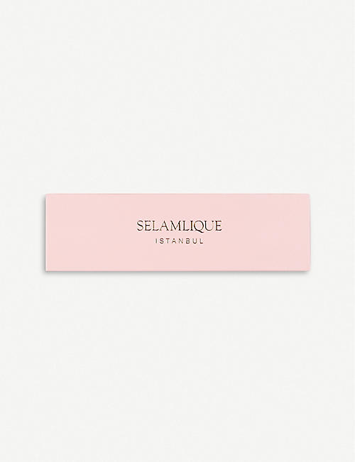 SELAMLIQUE: Rose white chocolate almonds 250g
