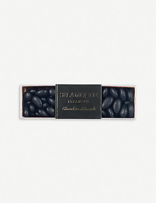 SELAMLIQUE: Matte dark chocolate almonds 250g