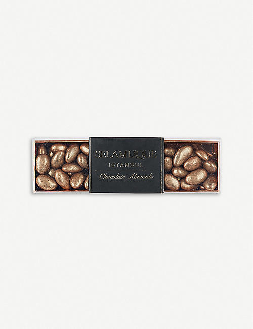 SELAMLIQUE: Gold milk chocolate almonds 250g