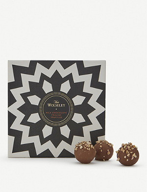 THE WOLSELEY Milk Chocolate praline truffles box of nine 120g