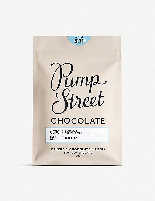 PUMP STREET: Ecuador 60% Oat Milk chocolate bar 70g