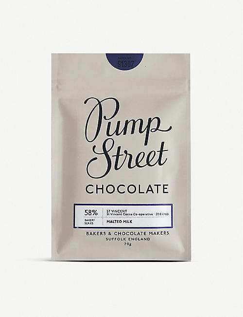 PUMP STREET: St Vincent 58% Malted Milk chocolate bar 70g