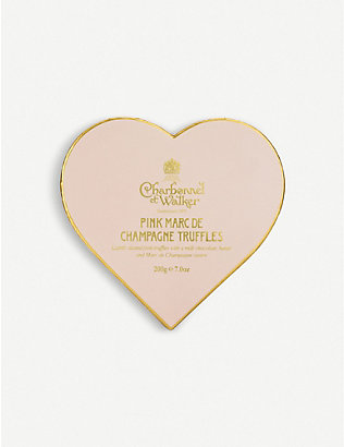 CHARBONNEL ET WALKER: Pink Marc de Champagne milk chocolate truffles 200g