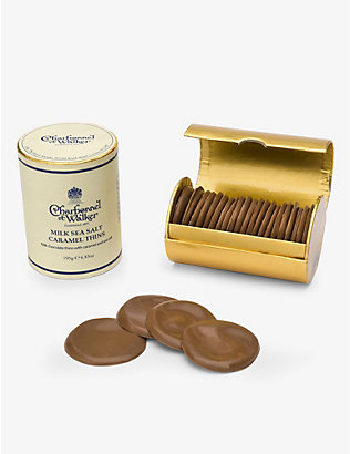 CHARBONNEL ET WALKER: Milk chocolate sea salt caramel thins 195g