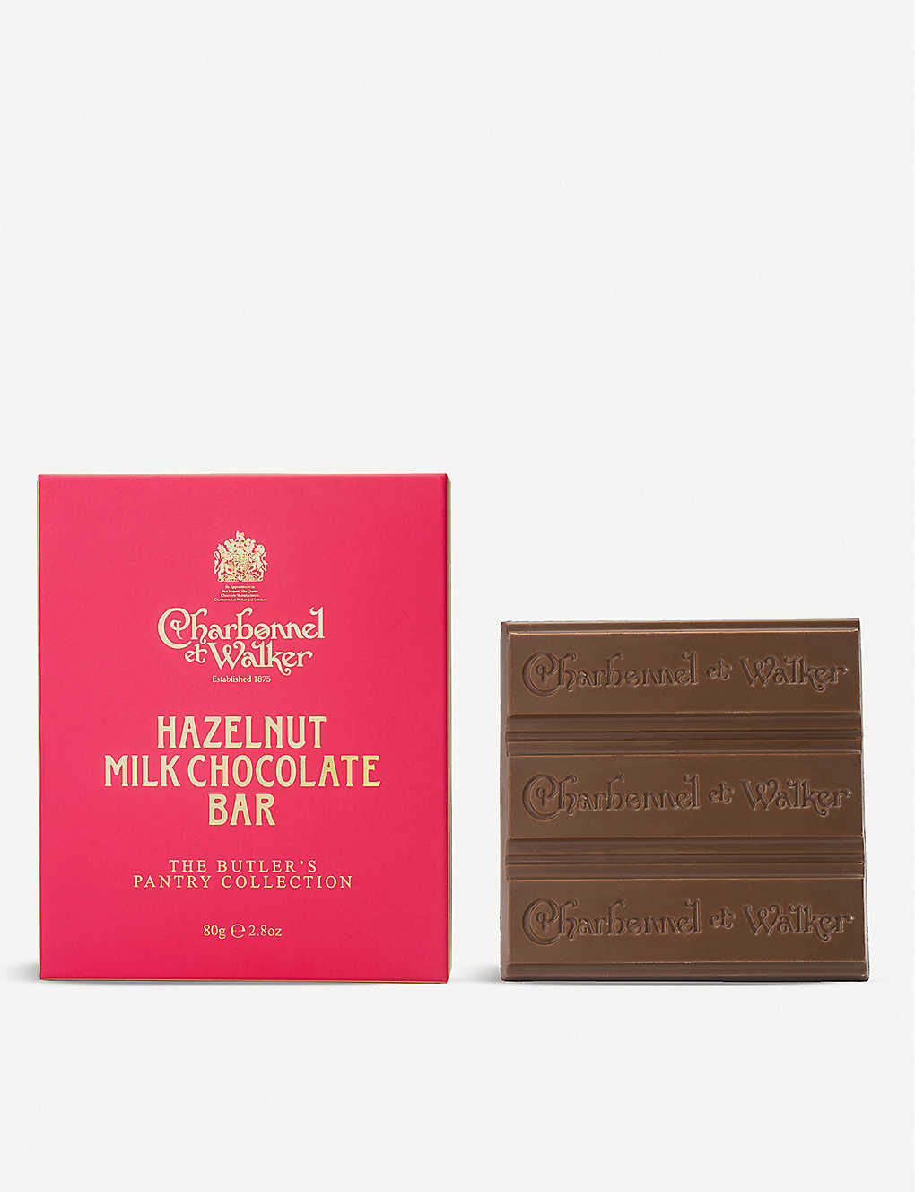 CHARBONNEL ET WALKER: Butler's Pantry Collection hazelnut milk chocolate bars 80g