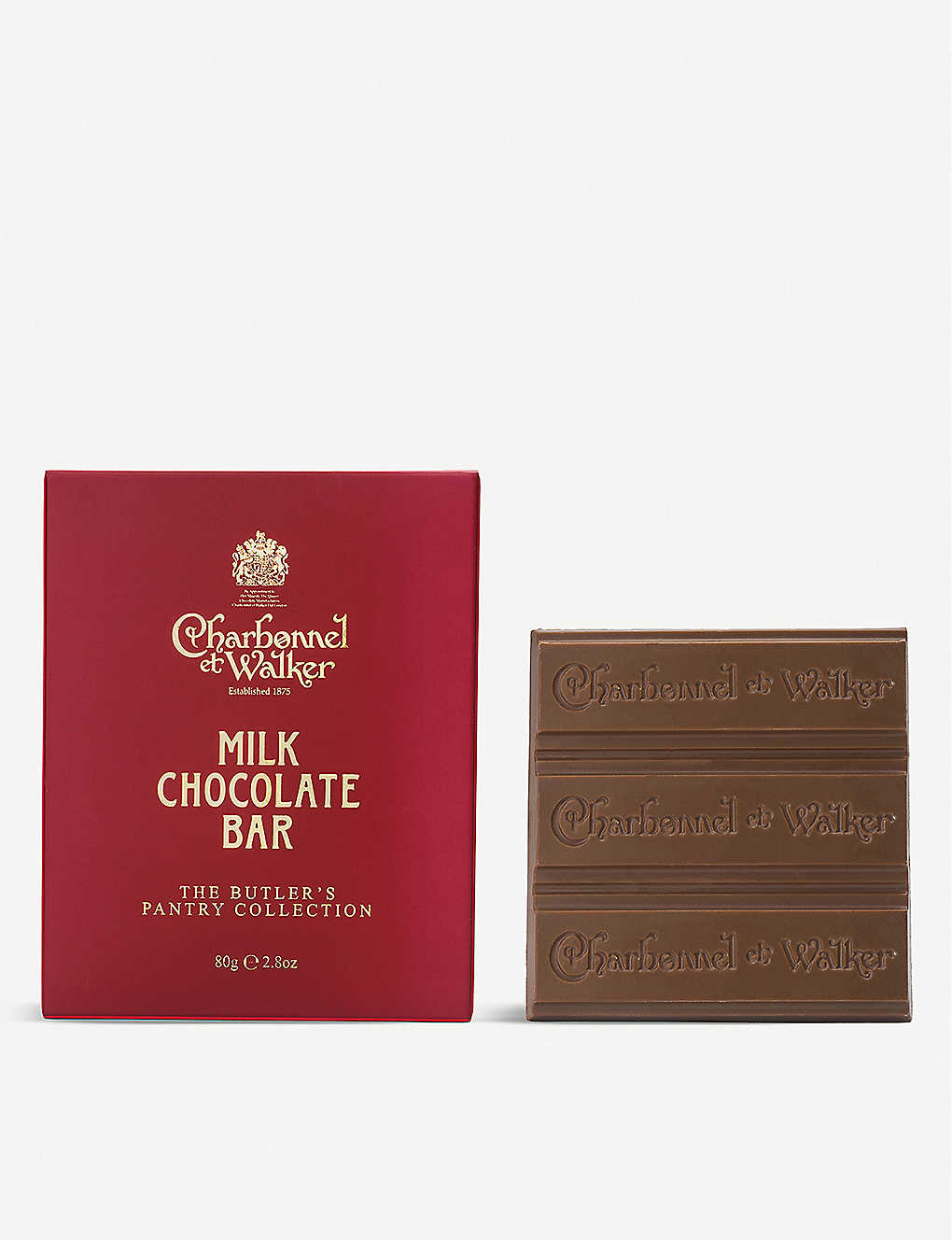 CHARBONNEL ET WALKER: Butler's Pantry Collection milk chocolate bars 80g