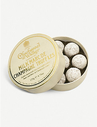 CHARBONNEL ET WALKER: Marc de Champagne milk chocolate truffles 135g