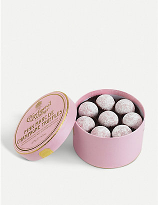 CHARBONNEL ET WALKER: Pink Marc de Champagne milk chocolate truffles 275g