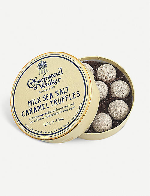 CHARBONNEL ET WALKER: Milk chocolate sea salt caramel truffles 120g