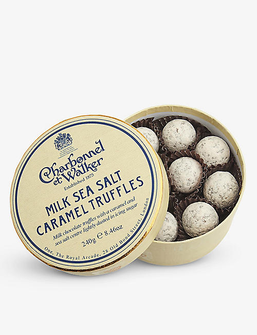 CHARBONNEL ET WALKER: Milk chocolate sea salt caramel truffles 240g