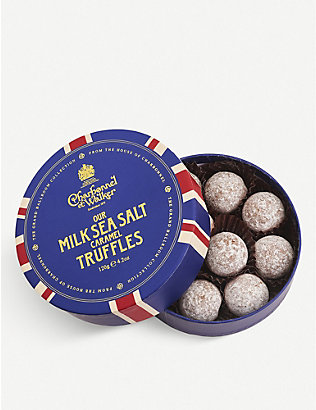 CHARBONNEL ET WALKER: Sea salt caramel milk chocolate truffles 120g