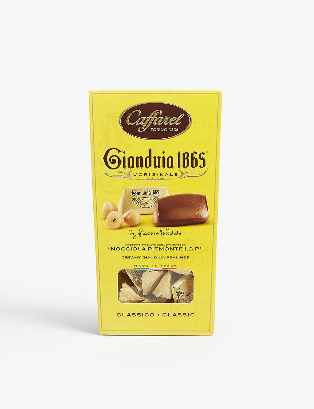 CAFFAREL: Gianduia 1865 gianduja chocolate hazelnut pralines 100g