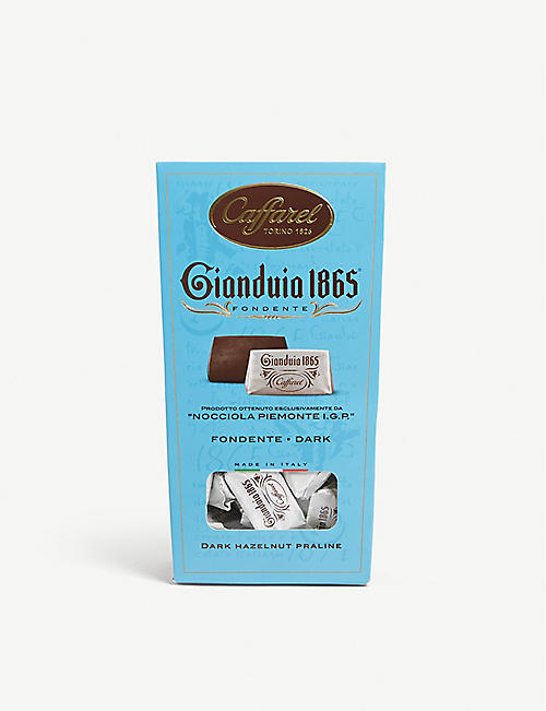 CAFFAREL: Gianduia 1865 dark gianduja chocolate hazelnut pralines 150g