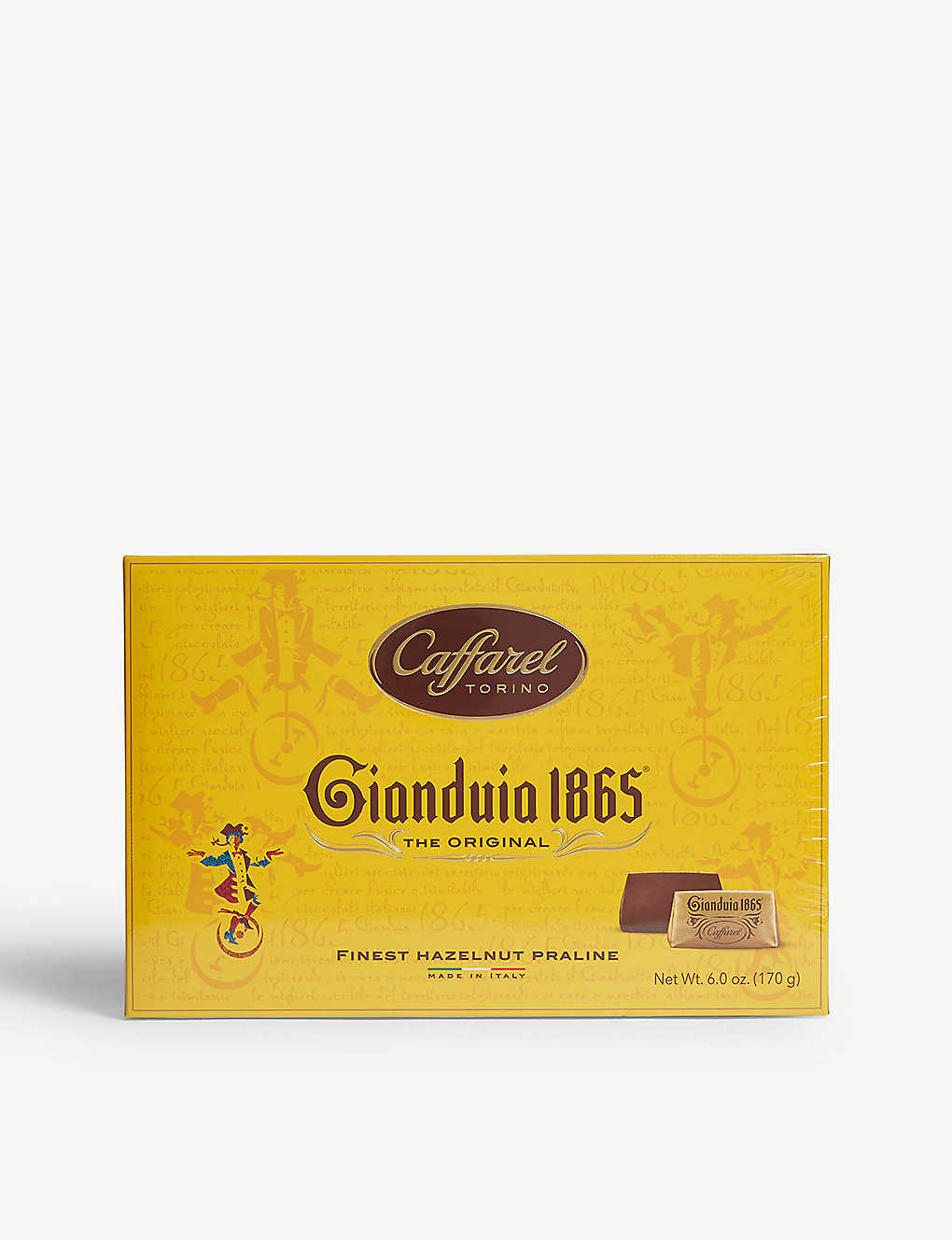CAFFAREL: Gianduia praline chocolate box 170g