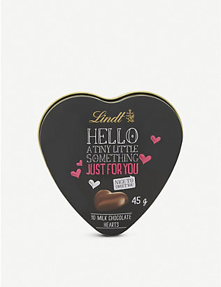 LINDT: Hello milk chocolate hearts box of 10