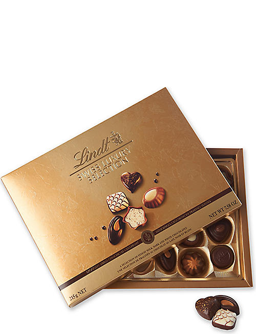 LINDT Swiss Luxury chocolate selection 195g