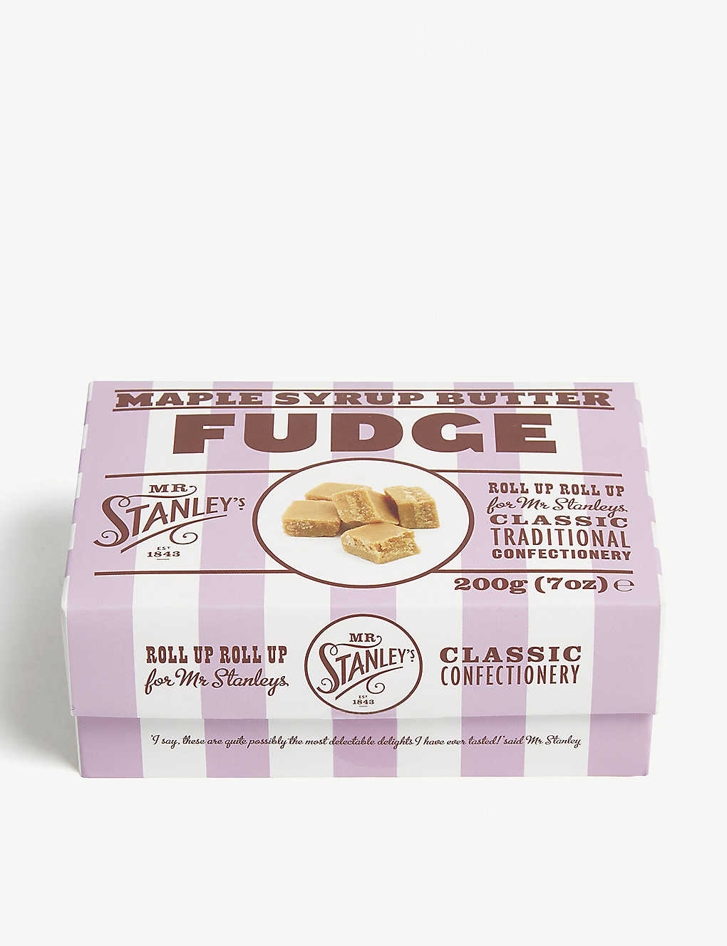 MR STANLEY'S: Luxury maple fudge 200g