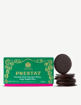 PRESTAT Zingy English mint dark chocolate wafers 200g
