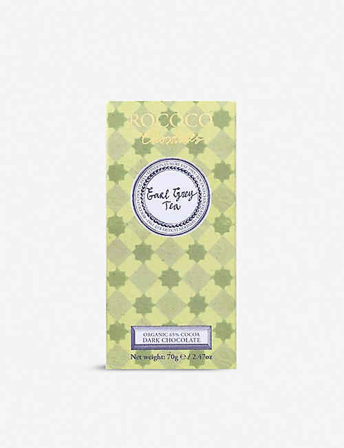 ROCOCO: Earl Grey Tea 65% dark chocolate bar 70g