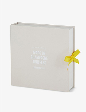 SELFRIDGES SELECTION Milk chocolate Marc de Champagne truffles box of nine