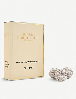 HOUSE OF DORCHESTER: Chocolate truffle selection box of 12
