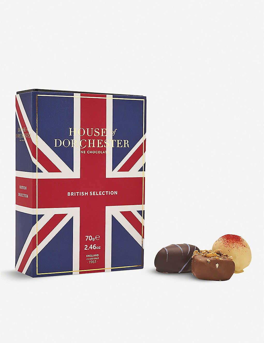 HOUSE OF DORCHESTER: British Selection assorted chocolates box of 6