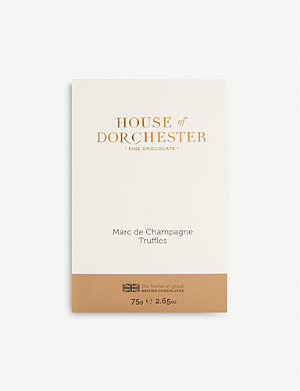 HOUSE OF DORCHESTER Marc de Champagne truffles 75g