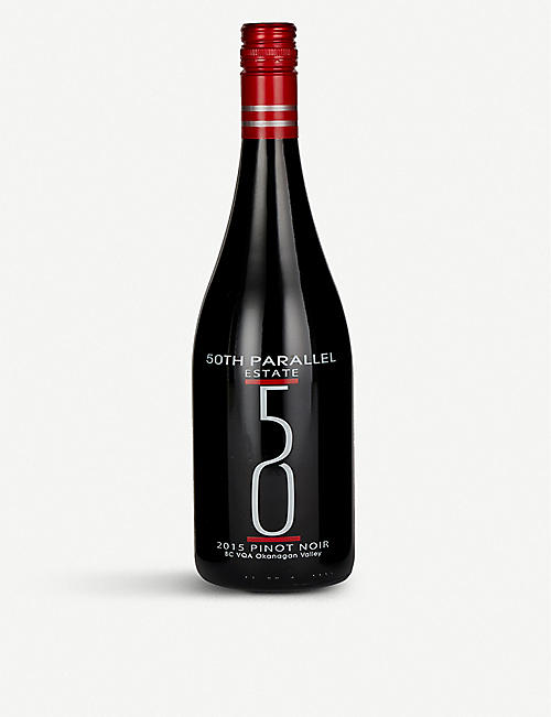 FINE WINES:50th Parallel Estate Okanagan Valley Pinot 黑皮诺葡萄酒 750 毫升