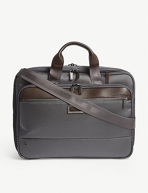 960d3a0db01a BRIGGS   RILEY  work Medium Expandable nylon briefcase