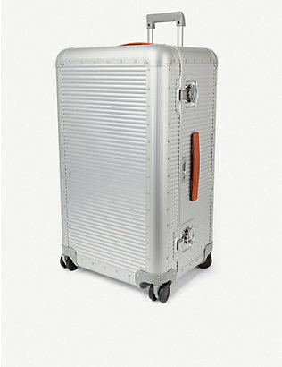 FPM - FABBRICA PELLETTERIE MILANO: Bank aluminium trunk on wheels 80cm
