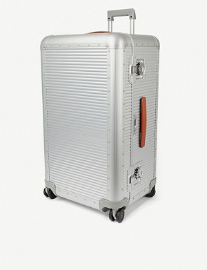 FPM - FABBRICA PELLETTERIE MILANO Bank aluminium trunk on wheels 80cm