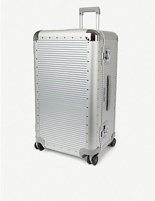 FPM - FABBRICA PELLETTERIE MILANO: Bank S aluminium trunk on wheels 80cm