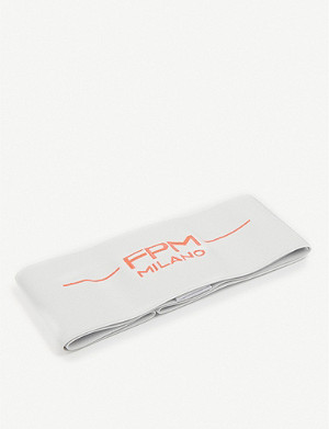 FPM Bank S Fluo branded elasticated suitcase strap