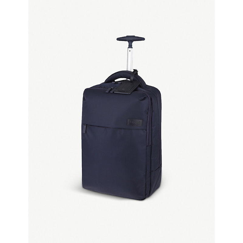 LIPAULT | Lipault Plume Business Two-Wheel Laptop Backpack 47cm, Navy | Goxip