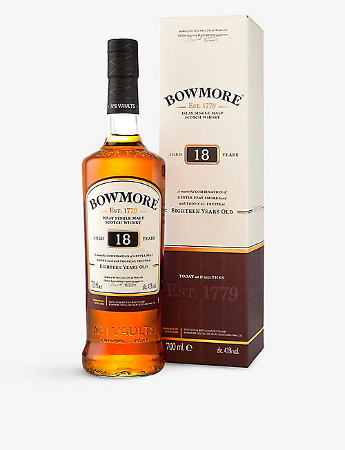 BOWMORE: 18 year old single malt Scotch whisky 750ml