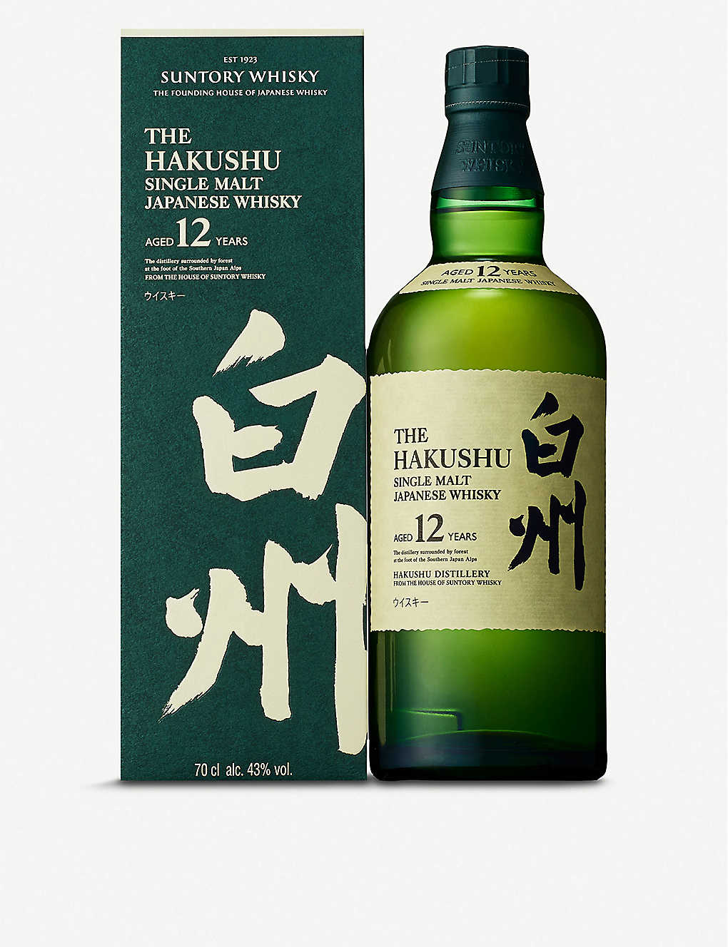 SUNTORY: Hakushu 12 year old whisky 700ml