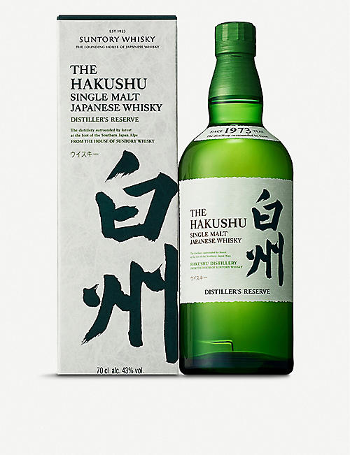 SUNTORY: Hakashu Distiller's Reserve single malt Japanese whisky 700ml