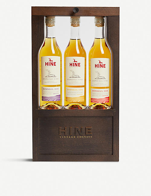 WHISKY AND BOURBON Cognac set of three 200ml