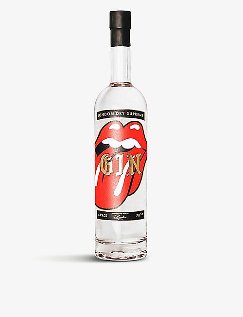 GOLDY GIN: The Rolling Stones x Goldy Gin Red Tongue Edition London Dry Supreme gin 700ml