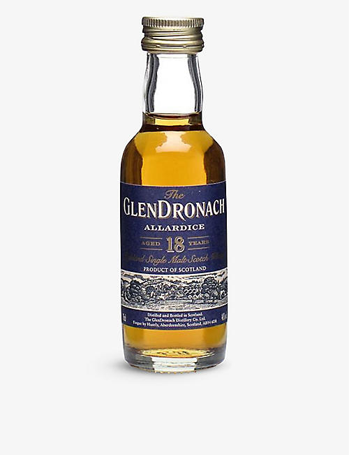 MINI A TURE: Glendronach Highland single-malt 18-year Scotch whisky