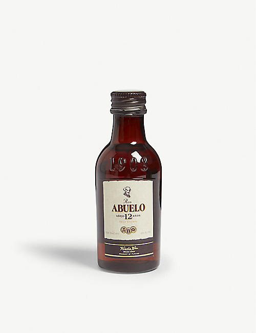 MINI A TURE Ron Abuelo 12-year-old rum 50ml