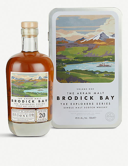 WHISKY AND BOURBON Arran Brodick Bay 20-year-old single malt Scotch whisky 700ml