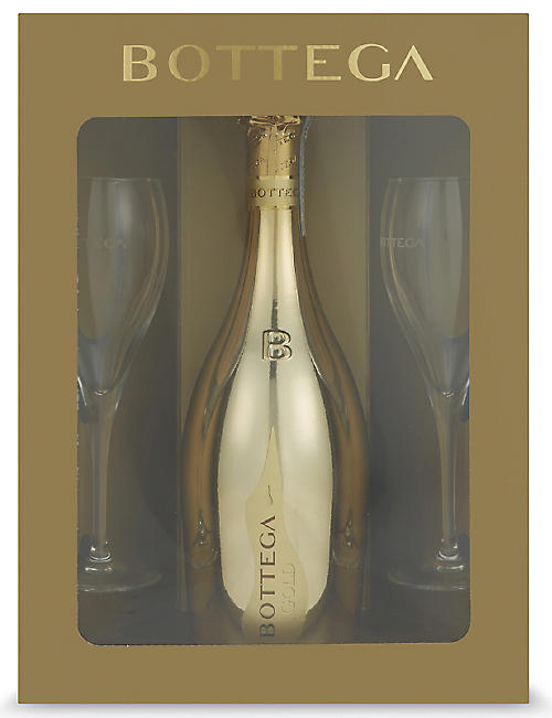 BOTTEGA Bottega gold prosecco glass pack 750ml